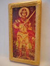 Saint Mercury Mercurius Agios Merkourios Greek Orthodox Icon Ancestry Name Plaqu