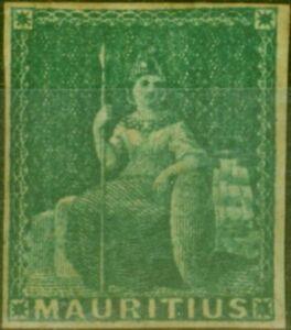 Mauritius 1858  Green SG27 Fine Mtd Mint