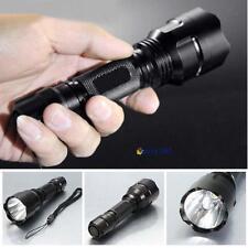 4000 Lumens CREE XML C8 T6 LED Flashlight 18650 Torch Lamp Light 5-mode Black DH