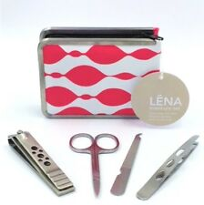 Manicure Set 4 Pieces Kit - Stainless Steel Nail Clippers File Tweezers Scissors