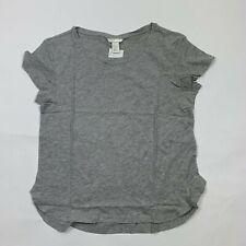 H&M Women Grey Short Sleeves Cotton Tee T-Shirt Top Choose Size S, M New