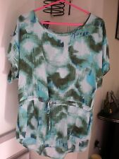 CALVIN KLEIN JEANS TIE DYE TOP WITH DRAWSTRING WAIST SIZE S/P/CH VISCOSE BLOUSE