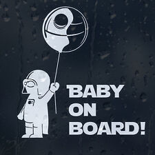Baby On Board Star Wars Darth Vader Car Decal Vinyl Sticker For Bumper Or Window