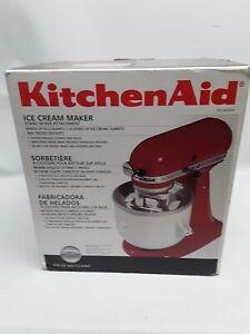 KitchenAid KICA0WH Ice Cream Sorbet Maker Attachment Perfect Condition!