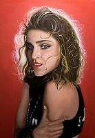 ORIGINAL PAINTING, OIL ON CANVAS LARGE PORTRAIT OF MADONNA BY ITALIAN ARTIST