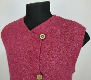 SALE HANDKNIT Cap sleeve cable vest Tweed wool-alpaca-acrylic blend Sale price reduced.