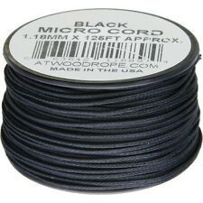Atwood Rope Mfg Ms01 - Black Micro 125' Jewelry Lanyard Emergency String Cord