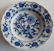 2227*  Meissen assiette creuse porcelaine zwiebelmuster Kobaltblau 23 cm