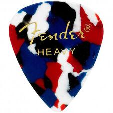 Fender 351 Classic Celluloid Guitar Picks - CONFETTI, HEAVY - 144-Pack (1 Gross)