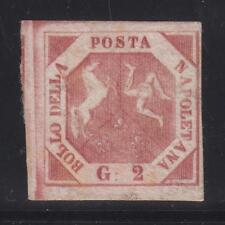 Napoli - 1858 gr.2 carminio violaceo III° tavola - Certificato Cilio - lotto 79
