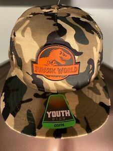 JURASSIC PARK World movie T-REX dinosaur BOYS Youth OSFM Snapback HAT Cap