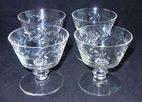 "4 Morgantown Glass Laurel Pressed Glass Low Sherbet Berry Champagne Glass 3 1/2"""