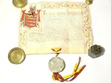 More details for 1662 charles ii grand of arms illuminated document & seal john gonning bristol