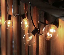 Cafe Style String Light Set - 10 Clear Bulbs - Indoor or Outdoor