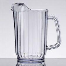 Lot of 12 Clear San Plastic Beverage Pitcher 32oz