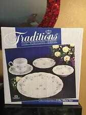 Haviland Blue Garland 5 Piece Place Setting Fine Porcelain China NEW NIB