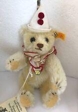 """❤️STEIFF TEDDY CLOWN BEAR 🤡 HISTORIC MINIATURE II  029196 1993-97 ~ NEW ~ 6"""" ❤️"""