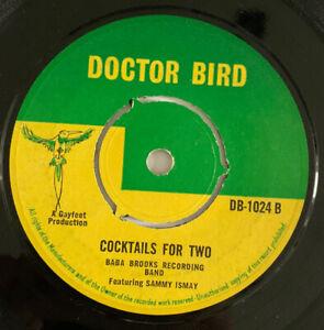 Baba Brooks Cocktails For Two Original Uk 45 Doctor Bird 1966 SKA !!