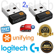 2x Logitech Unifying Receiver For Mouse / Keyboard Usb Dongle Wireless