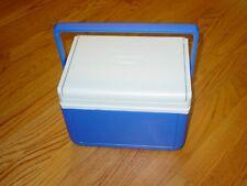 New listing Coleman Beverage Ice Chest Beverage Mini Cooler 6 Pack Blue White Flip lid 5205