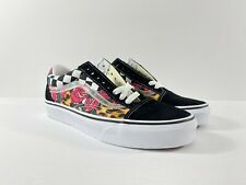 Vans Old Skool Rose Animal Print Check Checkerboard Shoes New W/Box Men's