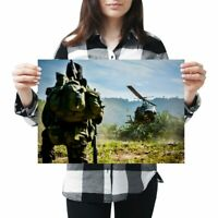 A3 - Bell Iroquois Huey Helicopter Jungle Army Poster 42X29.7cm280gsm #44262
