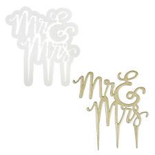 PME Sugarcraft Script Mr. & Mrs. Cake Topper Gumpaste Cutter