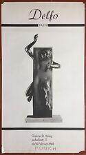 Affiche Exposition DELFO PARIS Galerie D. Heisig Paris Munich 1968