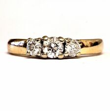14k yellow gold .44ct diamond engagement ring 3.3g vintage estate antique womens