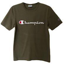 Mens CHAMPION Khaki Cotton T-Shirt. Size XS-S. GUC