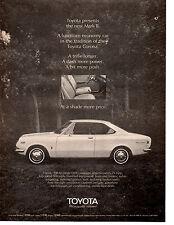 1969 TOYOTA CORONA  ~  CLASSIC ORIGINAL PRINT AD