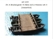 MGM 060-150 1/72 Resin WWII German Bridge Pontoon/Boat-One Model