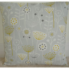 "24"" Cushion Cover Saffron Mustard Gold Yellow Grey Seedheads Scandi Silver 24x24"