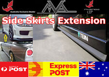 Side Skirt Extension Lip MITSUBISHI LANCER EVO MIRAGE COLT FTO GTO GALANT MIVEC