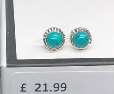 925 Sterling Silver TURQUOISE Small Button Ball Stud Earrings 5 mm Gift Boxed