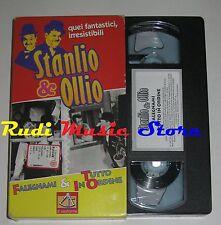 film VHS STANLIO & OLLIO FALEGNAMI TUTTO ORDINE CARTONATA IL SESTANTE(F6*)no dvd