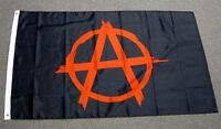 3X5 ANARCHY FLAG ANARCHIST SYMBOL RED A WITH CIRCLE ON BLACK NEW PUNK ROCK F071