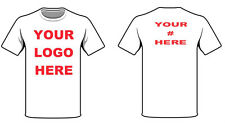 8 T Shirts Custom Personalized -print your text on FRONT & TEXT or # ON BACK