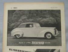 1951 Alvis 3 litre Tickford Coupe Original advert
