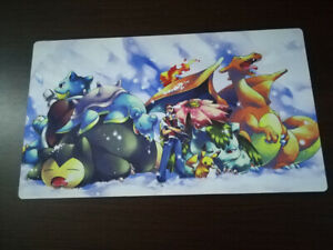 Pokemon Ash Ketchum Card Game Custom Playmat Anime CCG Mat Free Mat Bag T23