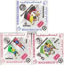 Yemen (UK) 1144B-1146B mint never hinged mnh 1970 Football-WM ´70, Mexico