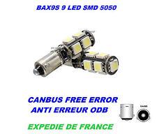 2 VEILLEUSE LED ALFA ROMEO SPORTWAGON GTA BAX9S H6W 9 SMD BLANC CANBUS 12V NEUF
