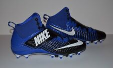 Nike Force Lunarbeast Pro TD Football Cleat - Men's Size 10.5 - Blue Black White