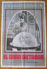 movie poster The Great Dictator / El gran dictador  Charlie Chaplin