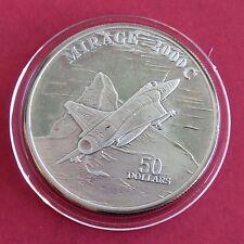 Mirage 2000c 1995 $50 1oz Fina Plata Prueba de .999 - Islas Marshall