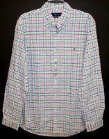 Polo Ralph Lauren Mens Green Orange Blue Checks Button-Front Shirt NWT 2XL XXL