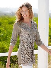 Laura Kent Shirt in modischer Oildyed-Färbung, sand. NEU!!! KP 49,99 € SALE%%%
