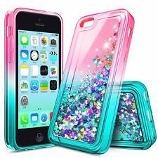 For iPhone 4S / iPhone 4 Case, Liquid Glitter Bling Soft TPU Cute Phone Cover