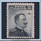 1906 Italia Regno Michetti cent. 15 grigio nero n. 80 Nuovo *