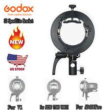 Godox S2 Bowens Mount Flash Bracket For Godox V1 AD200 TT685 V860II AD400pro US